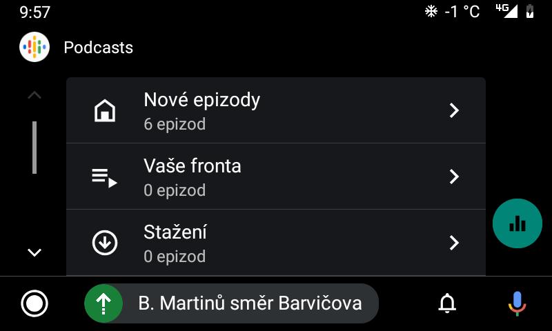 Aplikace Google Podcasts