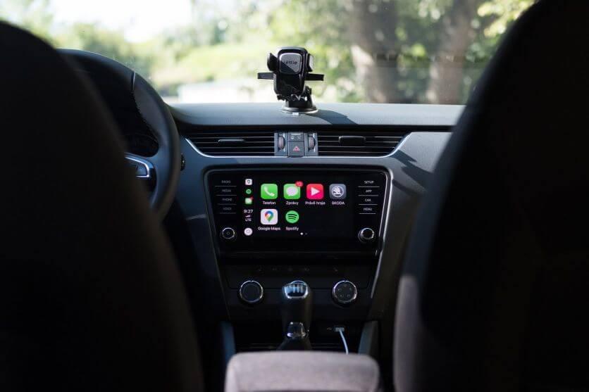 Úvodní obrazovka Apple Carplay