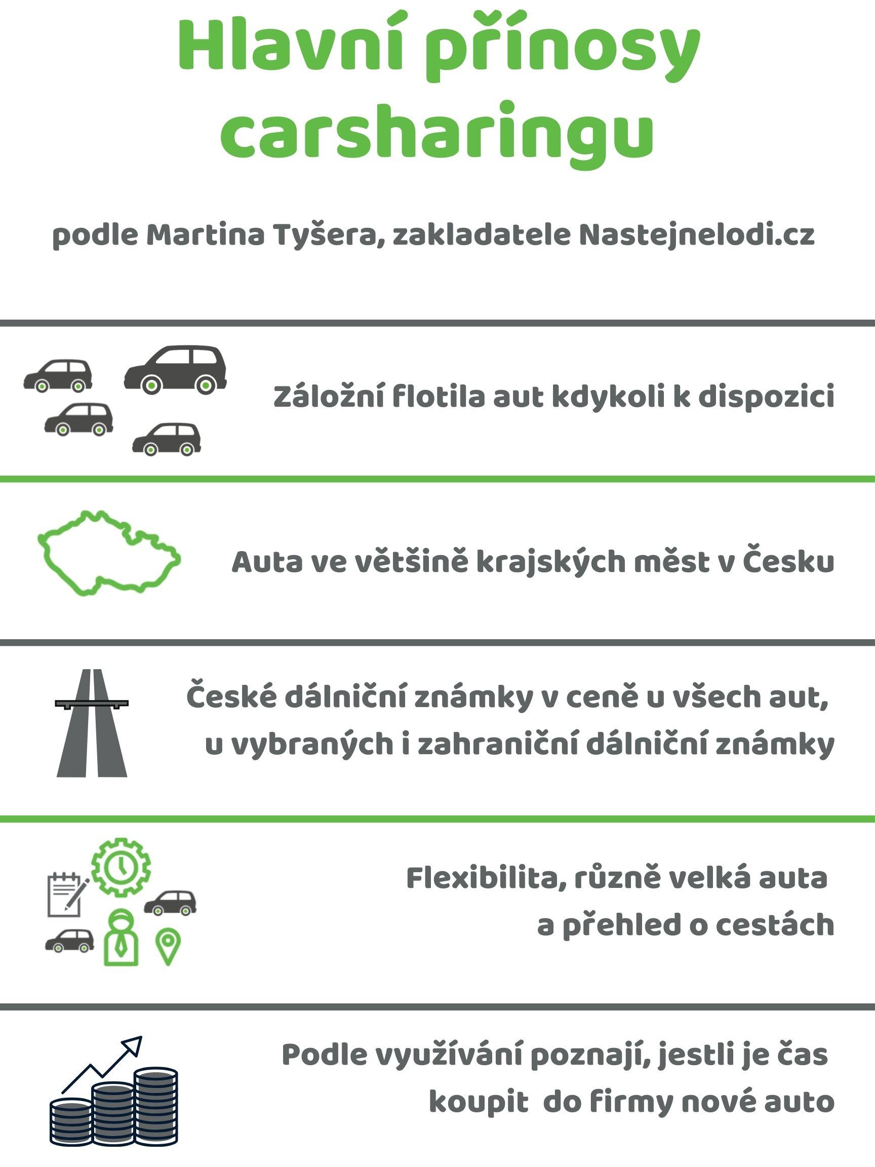 carsharing - záložní flotila aut