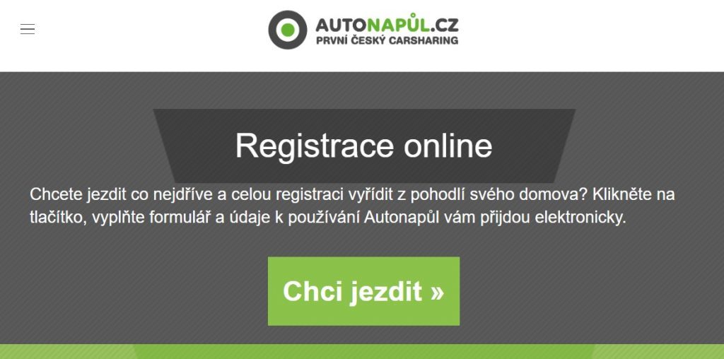 Autonapůl registrace online